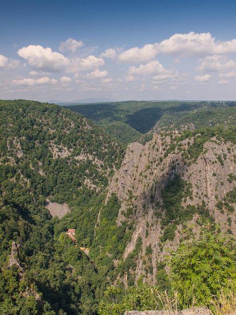 Blick auf das Harzgebirge