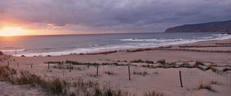 Sonnenuntergang am Guincho Beach