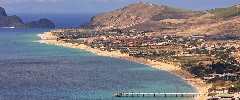 Vista da Praia de Porto Santo