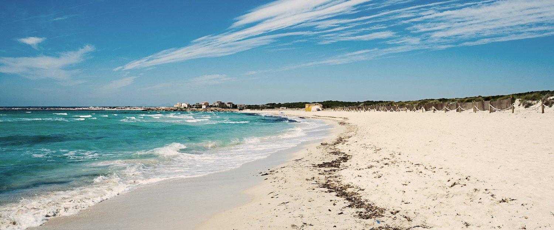 Weißer Sandstrand auf Mallorca