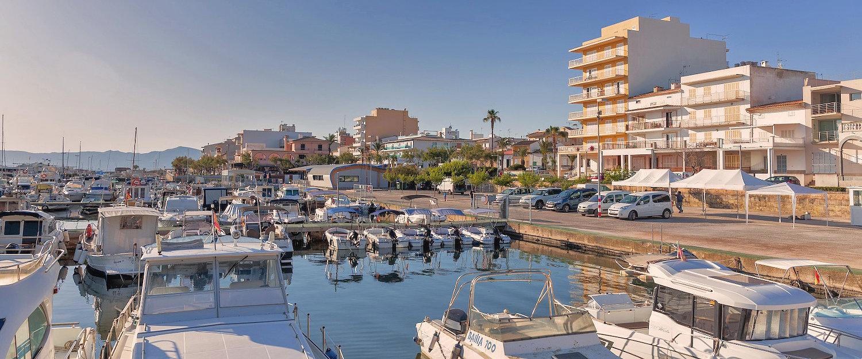 El puerto deportivo de Can Picafort