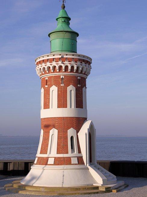 Der Leuchtturm Pingelturm in Bremerhavenn