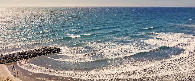 El mar en la playa de Maspalomas