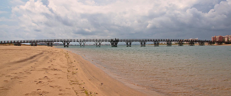 La playa de Punta del Moral en los alrededores de Ayamonte