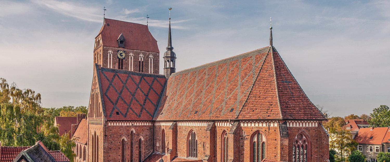 Dom von Güstrow im typischen Stil der Backsteingotik