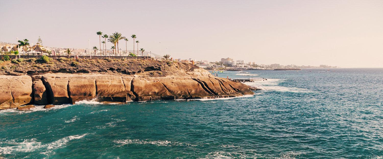 Vista del litoral en Costa Adeje
