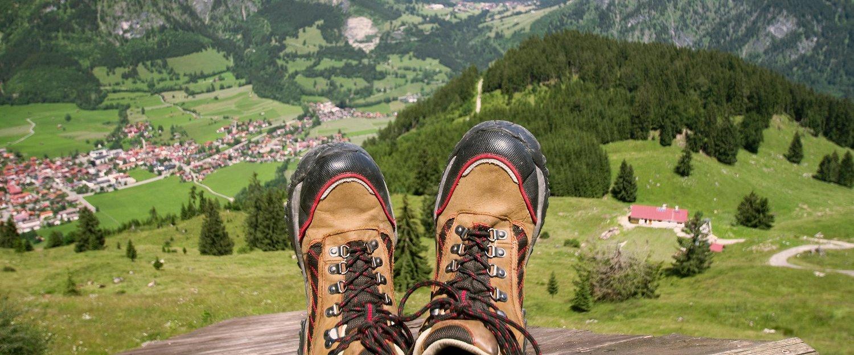Blick auf Oberjoch vom Iseler Berg aus