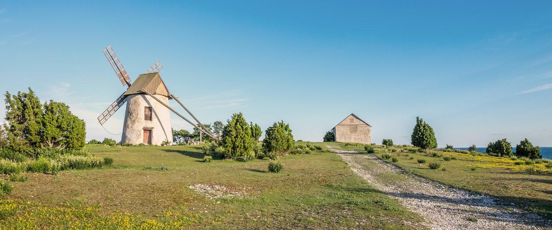 Alte Windmühle auf der Insel Gotland