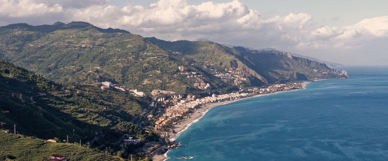 Veduta panoramica della costa.