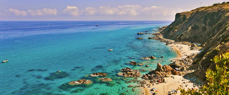 Panoramica sui colori del mare calabrese.