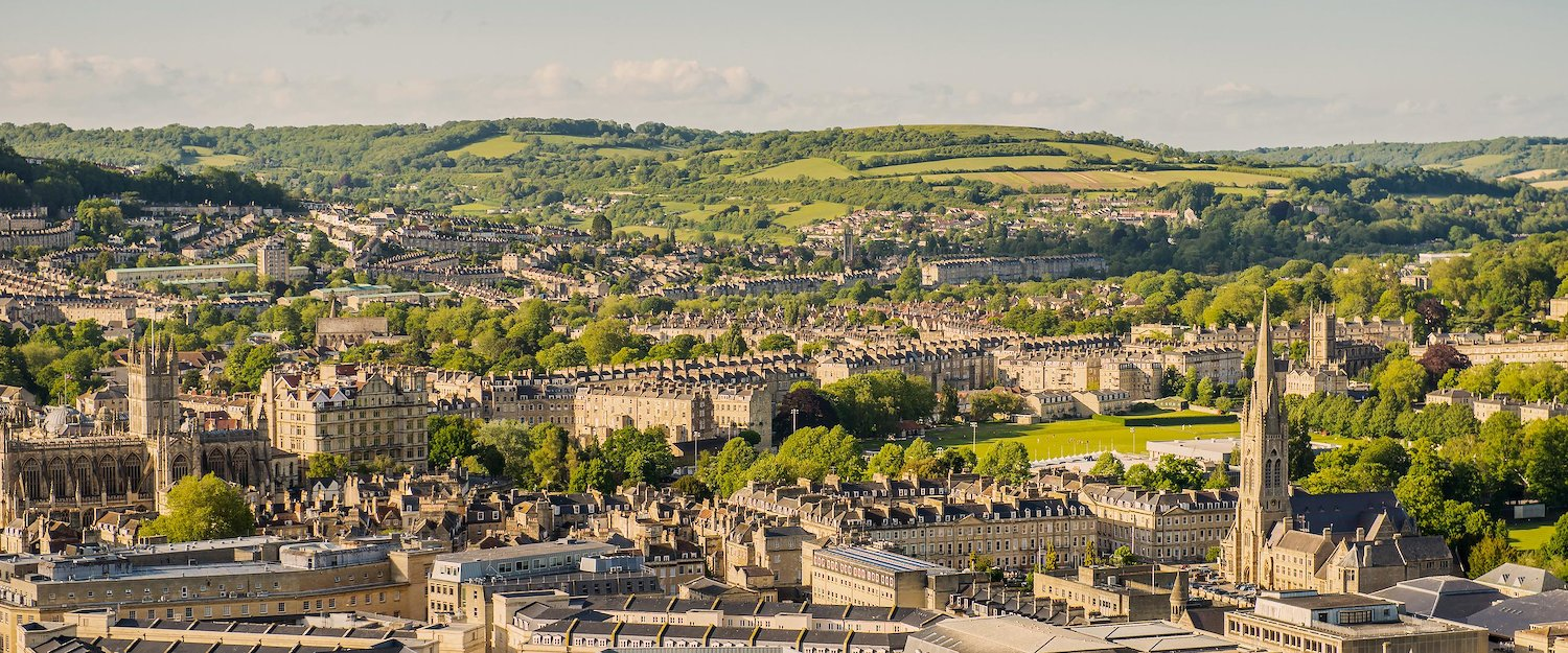 Stunning view over Bath