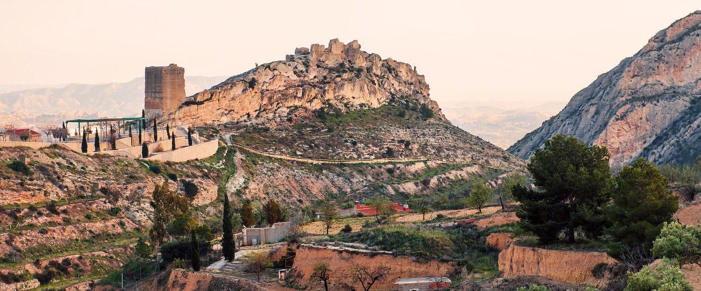 Vista del Castillo de la Torre Grossa en Jijona