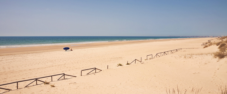 La playa de Los Caños de Meca
