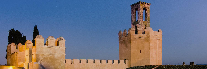 La torre de Espantaperros en la Alcazaba de Badajoz