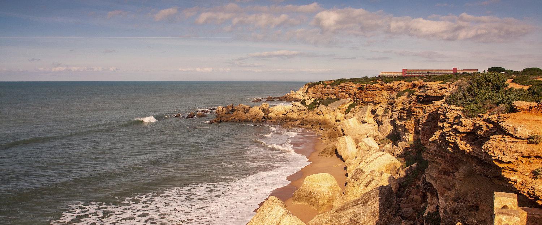 La costa del már atlántico en Cádiz