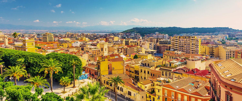 Vista panoramica su Cagliari.