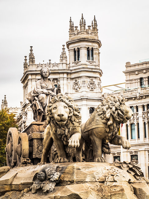 Der Plaza de Cibeles in Madrid