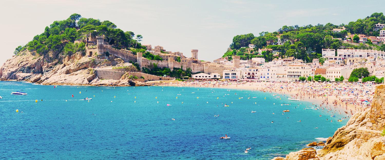 El precioso pueblo de Tossa del Mar
