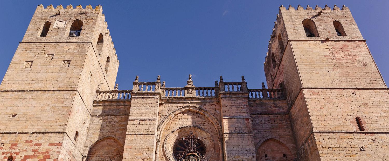 La fachada de la Catedral de Sigüenza