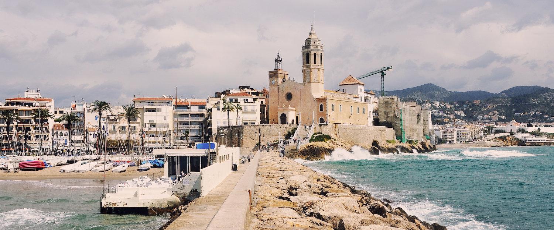 Am Hafen von Sitges